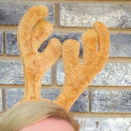 Fuzzy Reindeer Antler Headband