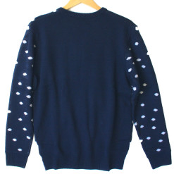H&M Christmas Tree Navy Blue Tacky Ugly Sweater
