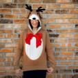 H&M Reindeer Ugly Christmas Hoodie Sweatshirt