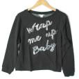 H&M Wrap Me Up Baby Glitter Ugly Christmas Sweatshirt