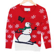 Hairy Skiing Snowman Tacky Ugly Christmas Sweater - Plays Music