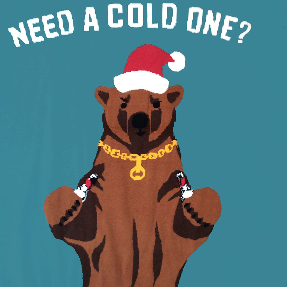 Need A Cold One Beer Bear Tacky Ugly Christmas Sweater