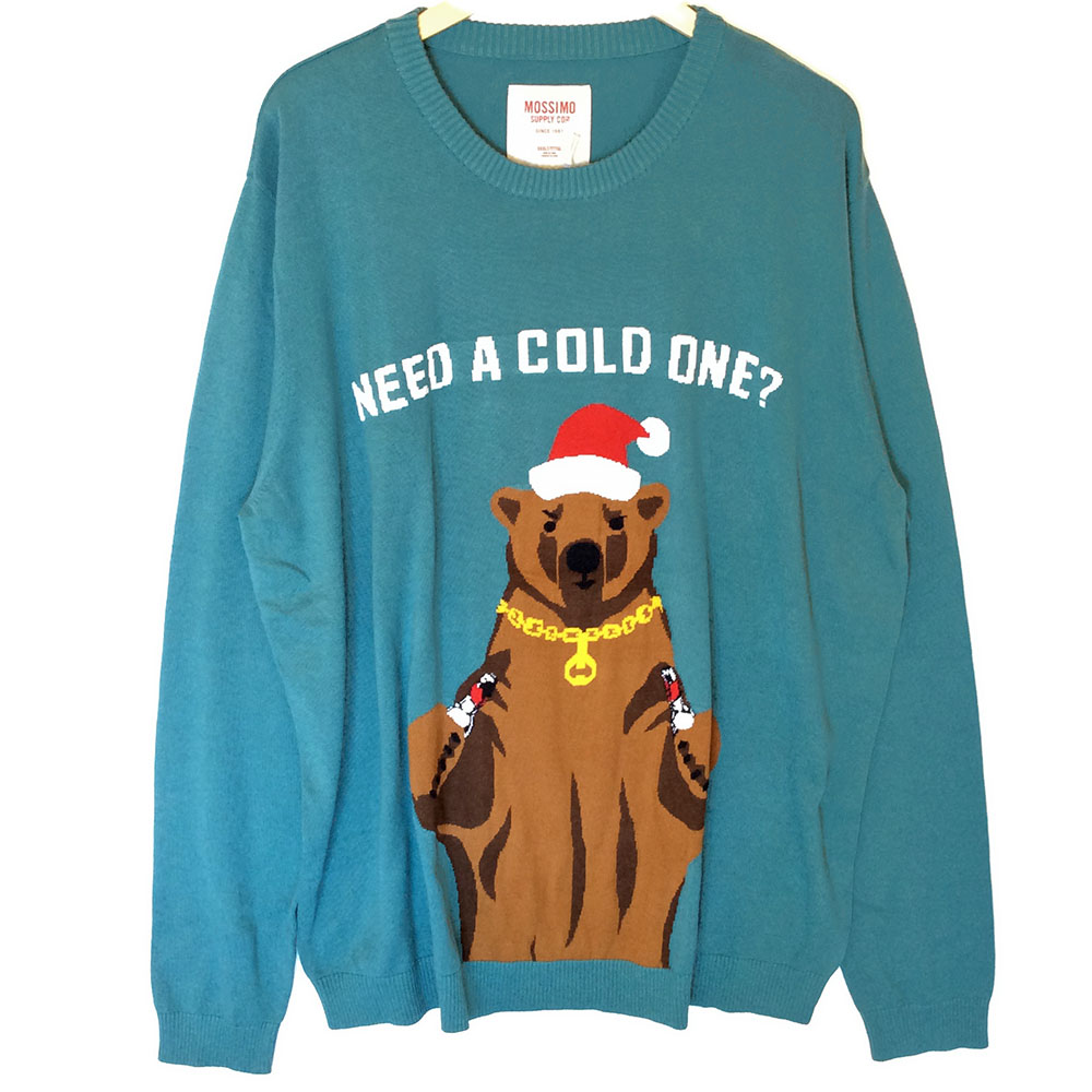 Need A Cold One? Beer Bear Tacky Ugly Christmas Sweater - Big ...