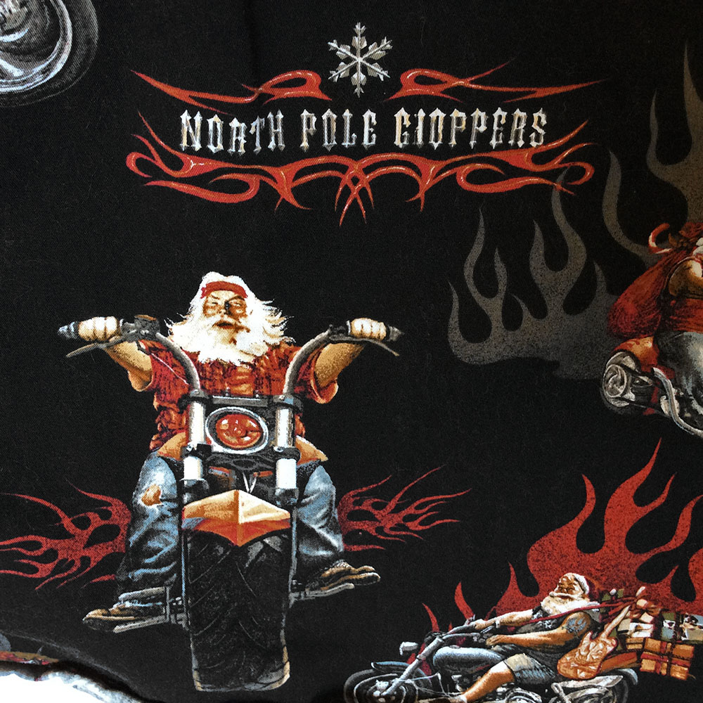 north pole choppers biker santa ugly christmas shirt - Biker Christmas