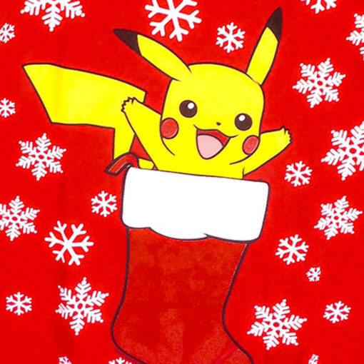 Pokeman Pikachu In A Christmas Stocking Ugly Holiday