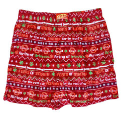Seinfeld Festivus Ugly Christmas Sweater Style Boxer Shorts