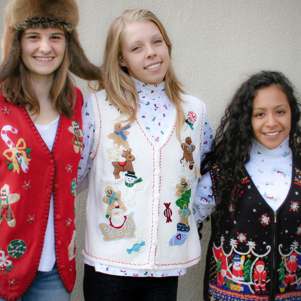 stacks of gingerbread men tacky ugly christmas sweater vest - Cheap Tacky Christmas Sweaters