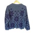 Vintage 80s Blue Snowflake Ugly Ski Sweater 2