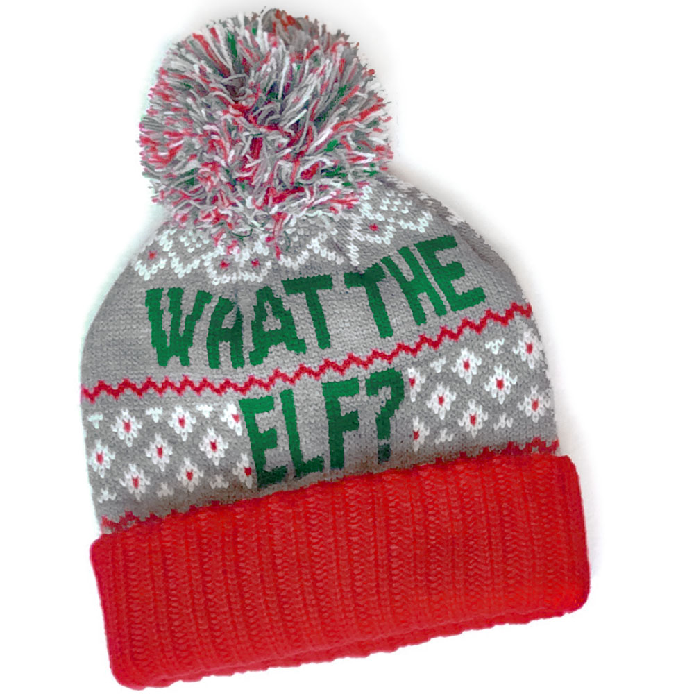 bc950cf6c2d84 What The Elf Pom Pom Hat Christmas Stocking Cap - The Ugly Sweater Shop