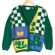 Vintage 90s Alexandra Bartlett St Patrick's Day Ugly Sweater