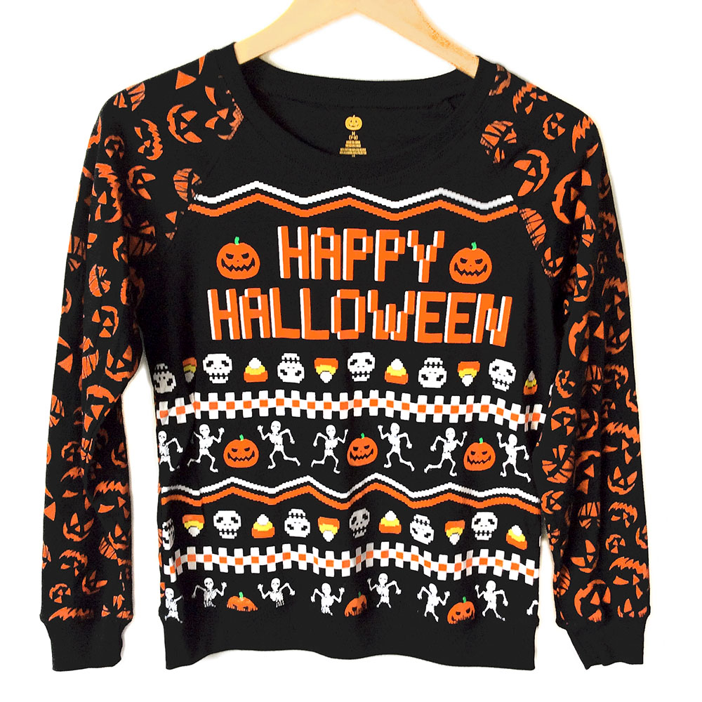 Happy Halloween Skeletons And Candy Corn Lightweight Ugly