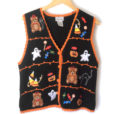 Teddy Bears Ghosts and Candy Tacky Ugly Halloween Sweater Vest