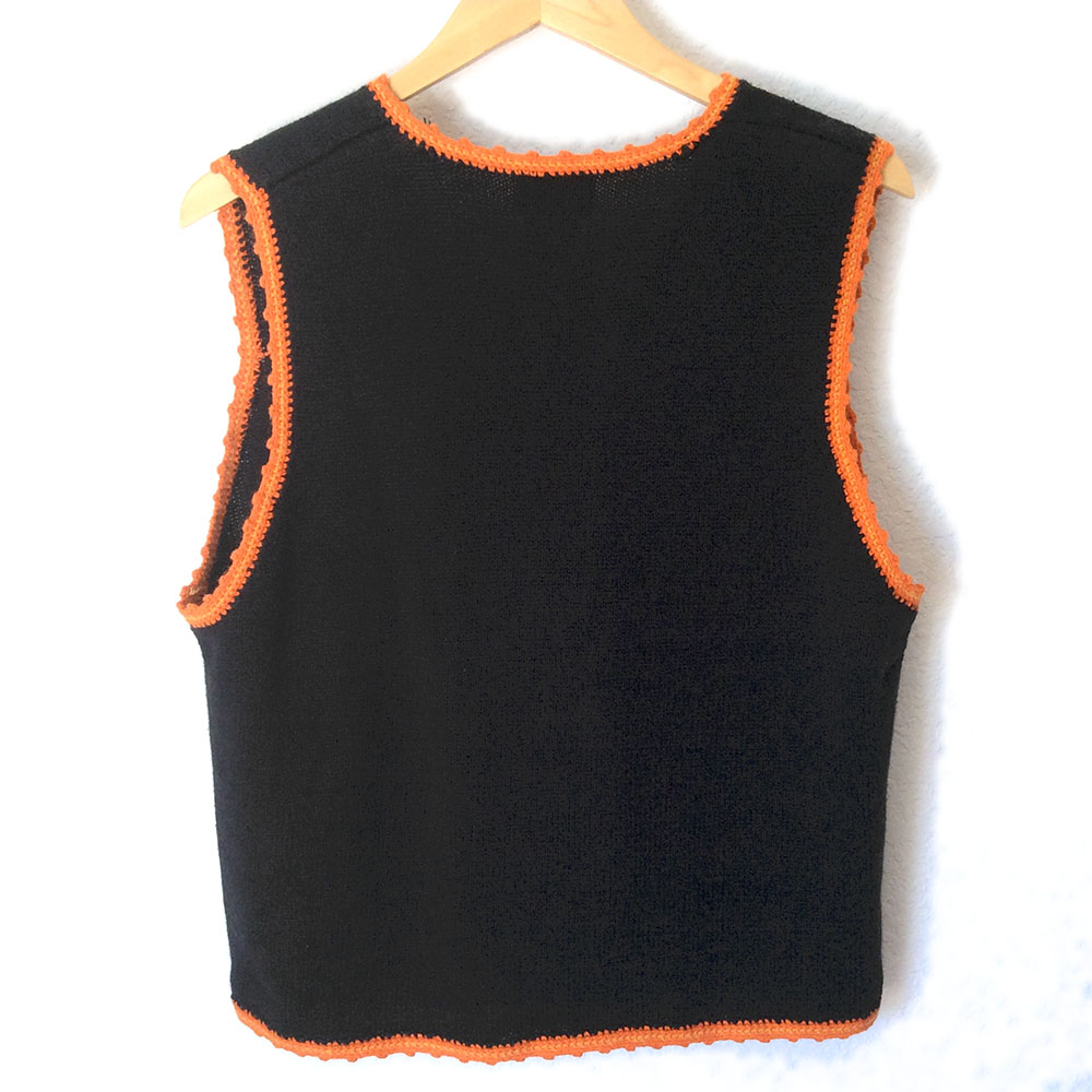 Teddy Bears Ghosts and Candy Tacky Ugly Halloween Sweater Vest ...