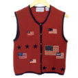 USA Flag Patriotic Election Day or 4th of July Ugly Sweater Vest