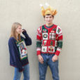 'All The Christmas Things' Tacky Ugly Cardigan Sweater