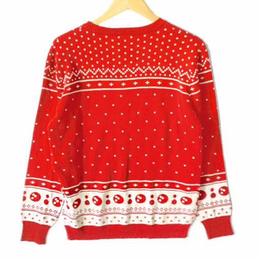 Big Lebowski 'The Dude Abides' Tacky Ugly Christmas Sweater