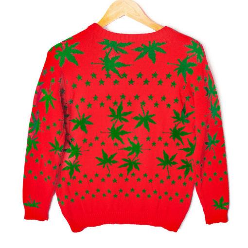 Blitzen's Blazin' 420 Tacky Ugly Christmas Sweater