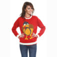 Cartoon Turkey Tacky Thanksgiving Ugly Sweater