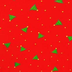 Christmas Trees and Stars Tacky Ugly Printed Turtleneck