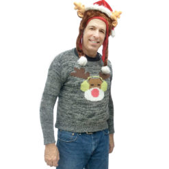 DJ Reindeer Tacky Ugly Christmas Sweater