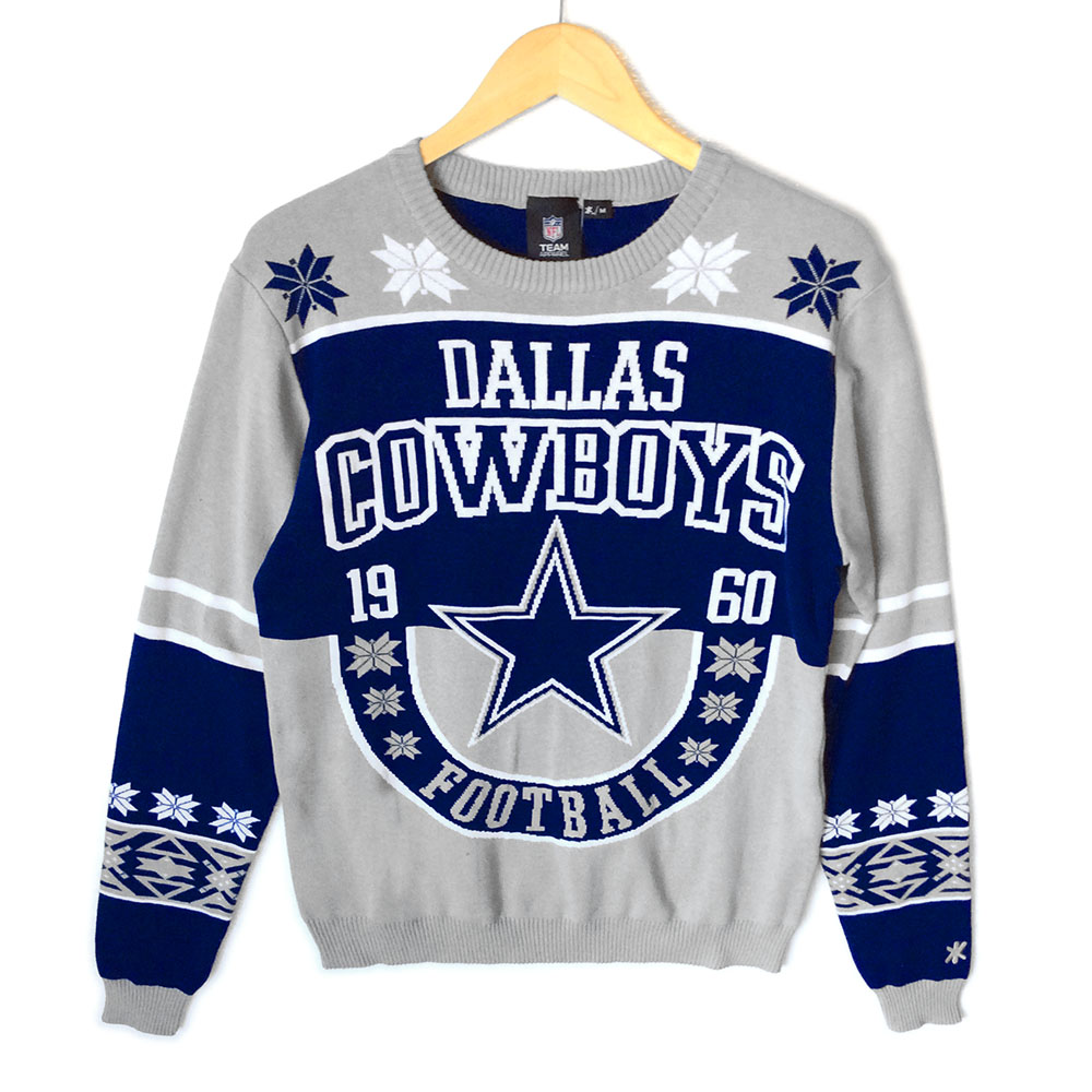 dallas cowboys tacky ugly christmas sweater