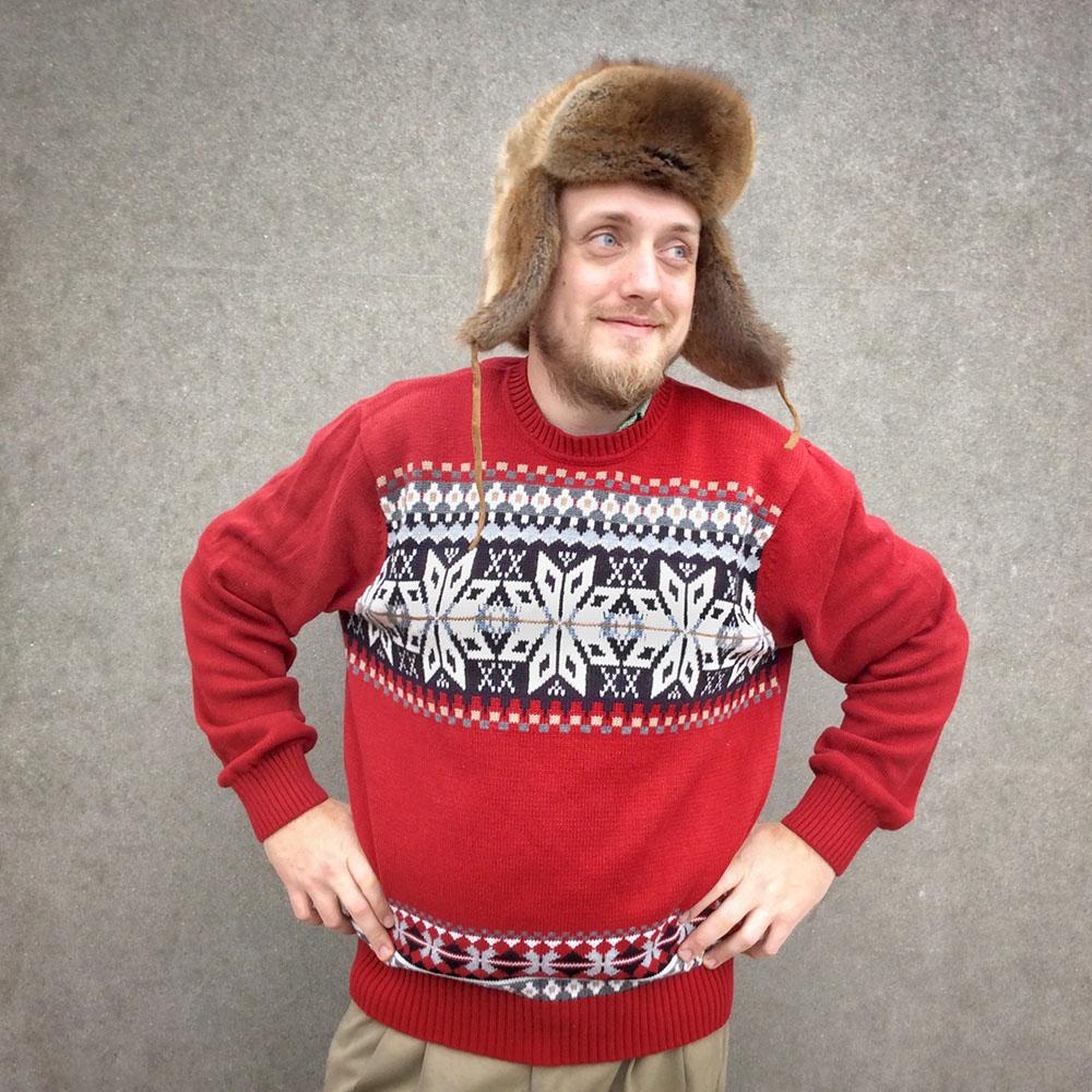 dockers snowflake classic nordic ski or ugly christmas sweater - Classic Christmas Sweaters