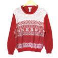 Dockers Snowflake Classic Nordic Ugly Christmas Sweater