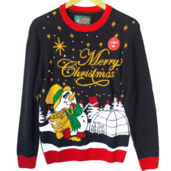 Drunken Snowman Light Up Tacky Ugly Christmas Sweater