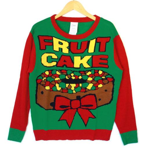 Fruitcake Tacky Ugly Christmas Sweater