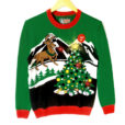 Gaze Upon The Light Up Christmas Tree O Reindeer Ugly Sweater