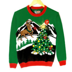 Gaze Upon The Light Up Christmas Tree O Reindeer Ugly Sweater