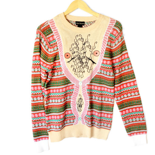 Hairy Chest Is Best Tacky Ugly Christmas Sweater The Ugly Sweater Shop