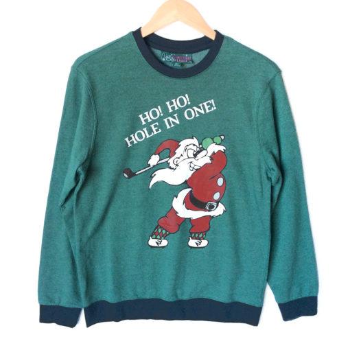 ho-ho-hole-in-one-golfing-santa-tacky-ugly-christmas-sweatshirt