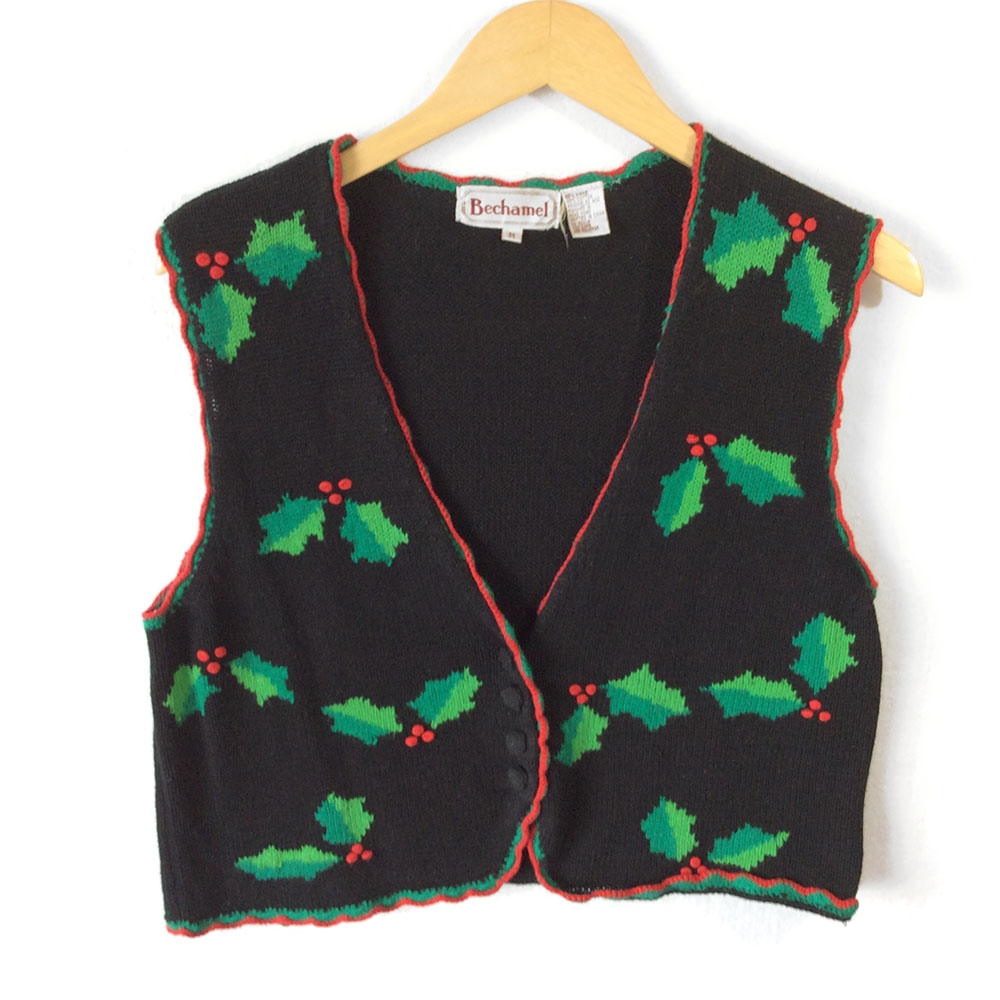 Gem Golf Cart >> Holly Jolly Tacky Ugly Christmas Sweater Vest - The Ugly Sweater Shop