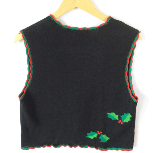 Holly Jolly Tacky Ugly Christmas Sweater Vest