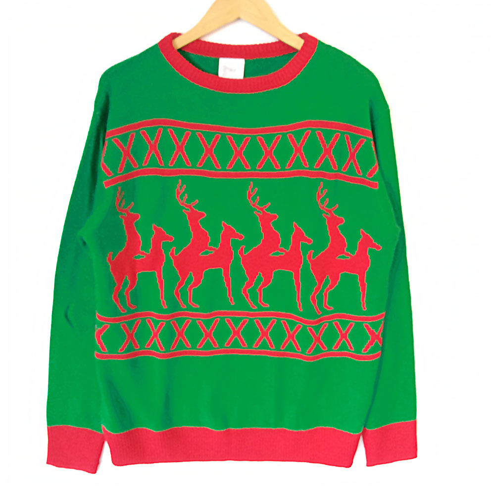 Humping Reindeer Tacky Ugly Christmas Sweater - The Ugly Sweater Shop