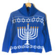 Menorah Turtleneck Tacky Ugly Hanukkah Sweater