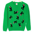 Mickey Mouse Santa Silhouette Tacky Ugly Christmas Sweater