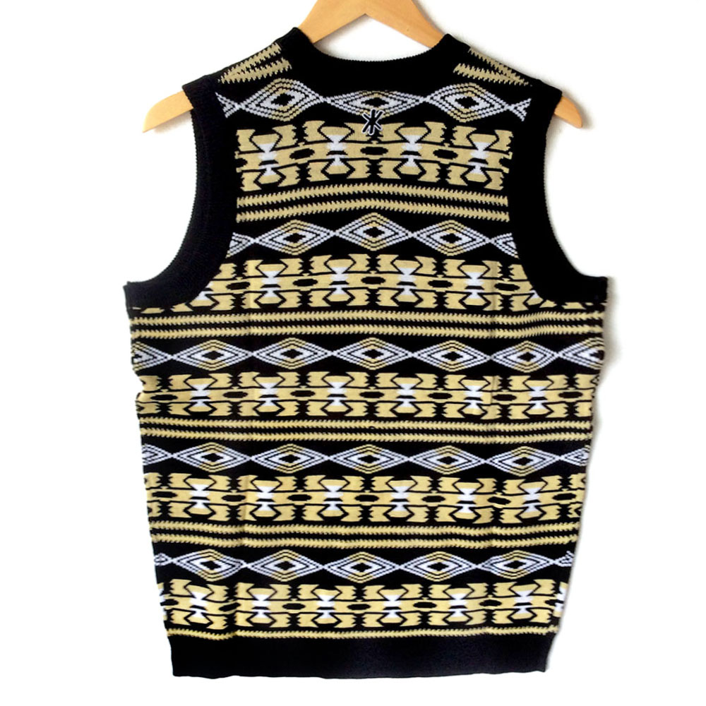 b99b9c72 NFL Licensed New Orleans Saints Tacky Ugly Christmas Sweater Vest