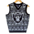 NFL Licensed Oakland Raiders Tacky Ugly Christmas Sweater Vest (Copy)