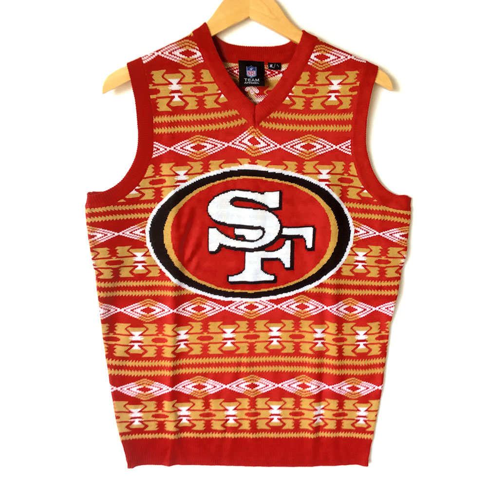 NFL Licensed San Francisco 49ers Tacky Ugly Christmas Sweater Vest ...