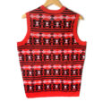 NHL Licensed Chicago Blackhawks Tacky Ugly Christmas Sweater Vest