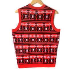 NHL Licensed Chicago Blackhawks Tacky Ugly Christmas Sweater Vest