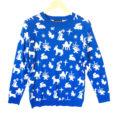 Nativity Scene Icons Tacky Ugly Christmas Sweater