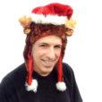 Plush Reindeer Santa Hat