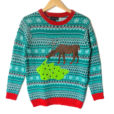 Reindeer Hangover Tacky Ugly Christmas Sweater