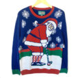 Santa's Golf Vacation Tacky Ugly Christmas Sweater