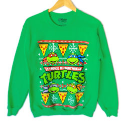 Teenage Ninja Mutant Turtles Tacky Ugly Christmas Sweater Style Sweatshirt