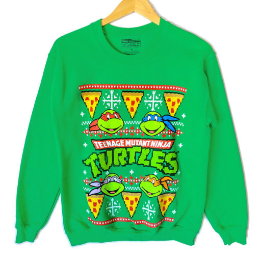 Teenage Ninja Mutant Turtles Tacky Ugly Christmas Sweater Style Sweatshirt