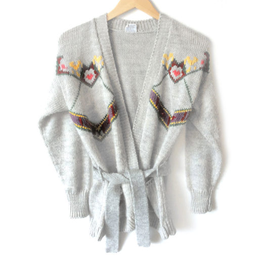 vintage-60s-belted-open-cardigan-autumn-tacky-ugly-sweater